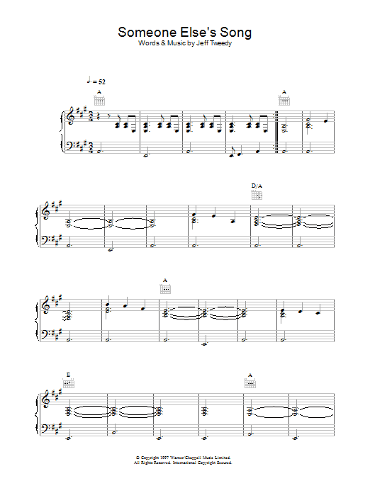 Someone Else's Song sheet music
