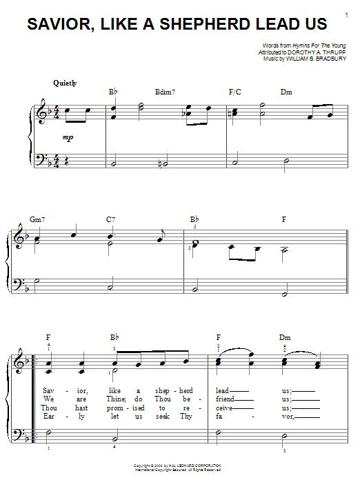 Savior, Like A Shepherd Lead Us sheet music