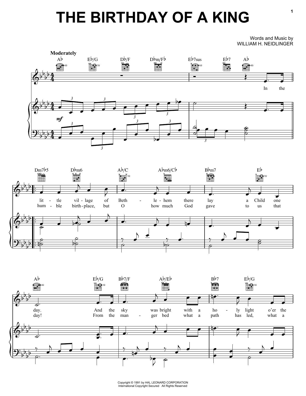 The Birthday of a King (Neidlinger) sheet music
