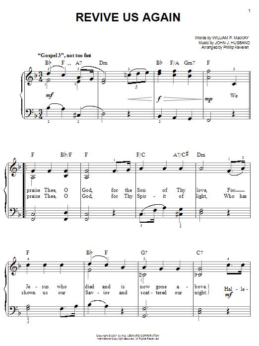 Revive Us Again sheet music