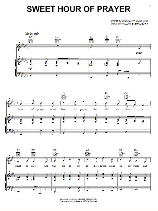 Sweet Hour Of Prayer sheet music