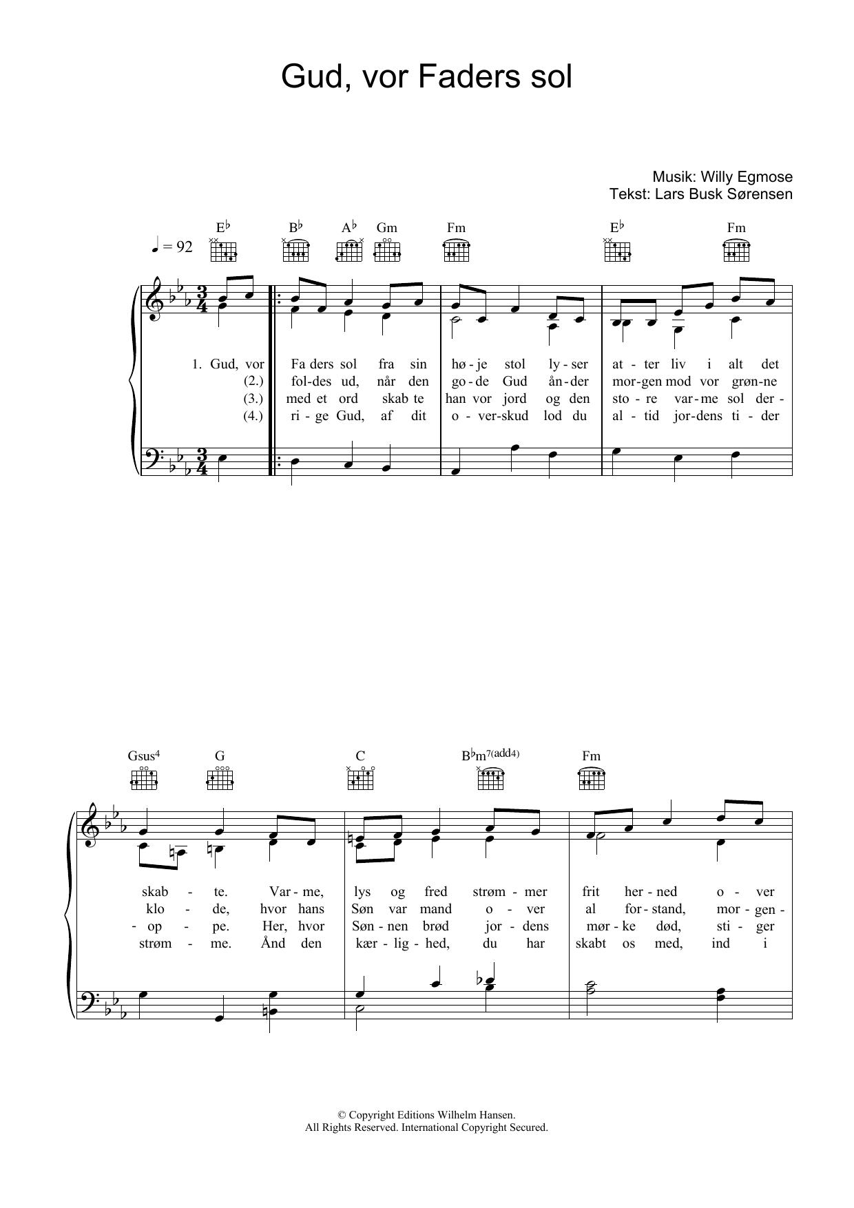 Gud, Vor Faders Sol sheet music