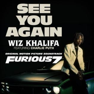 Wiz Khalifa feat. Charlie Puth, See You Again, Piano, Vocal & Guitar (Right-Hand Melody)