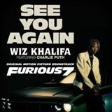 Download Wiz Khalifa See You Again (featuring Charlie Puth) sheet music and printable PDF music notes
