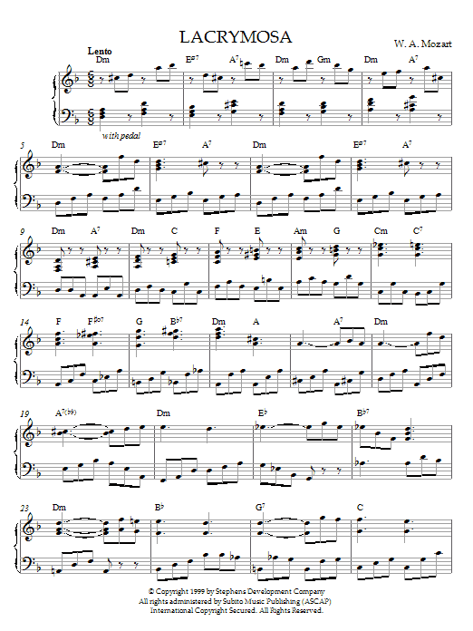 Lacrymosa, K. 626 sheet music