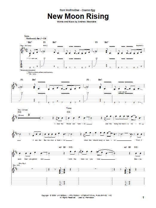 New Moon Rising sheet music
