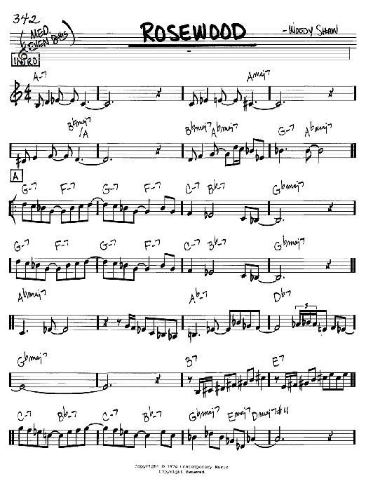 Rosewood sheet music