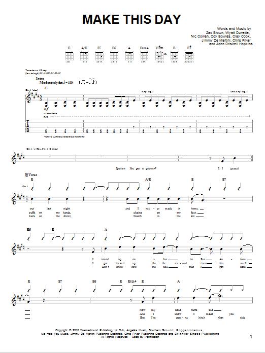 Make This Day sheet music