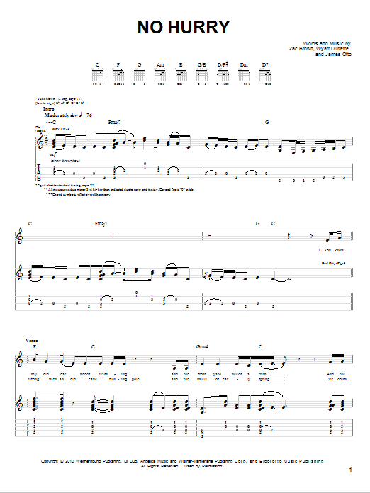 No Hurry sheet music