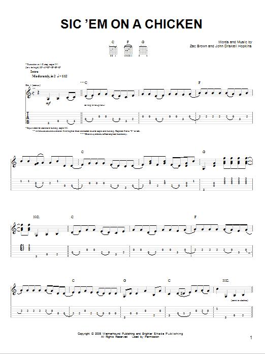 Sic 'Em On A Chicken sheet music