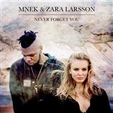 Download Zara Larsson Never Forget You sheet music and printable PDF music notes