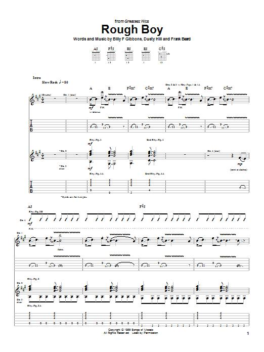 Rough Boy sheet music