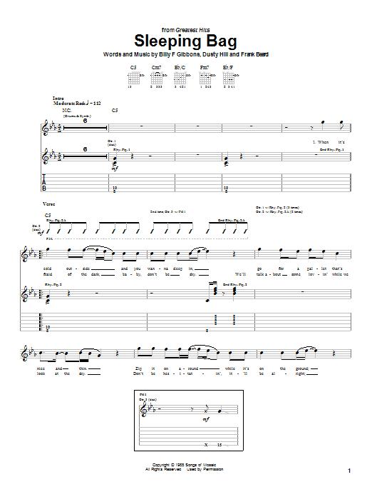 Sleeping Bag sheet music