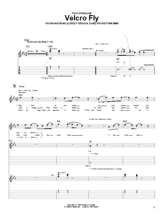 Velcro Fly sheet music